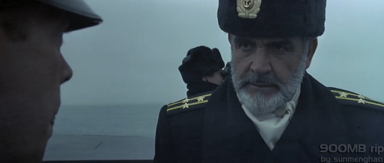 Russian submarine officer, played by Sean Connery, scowling