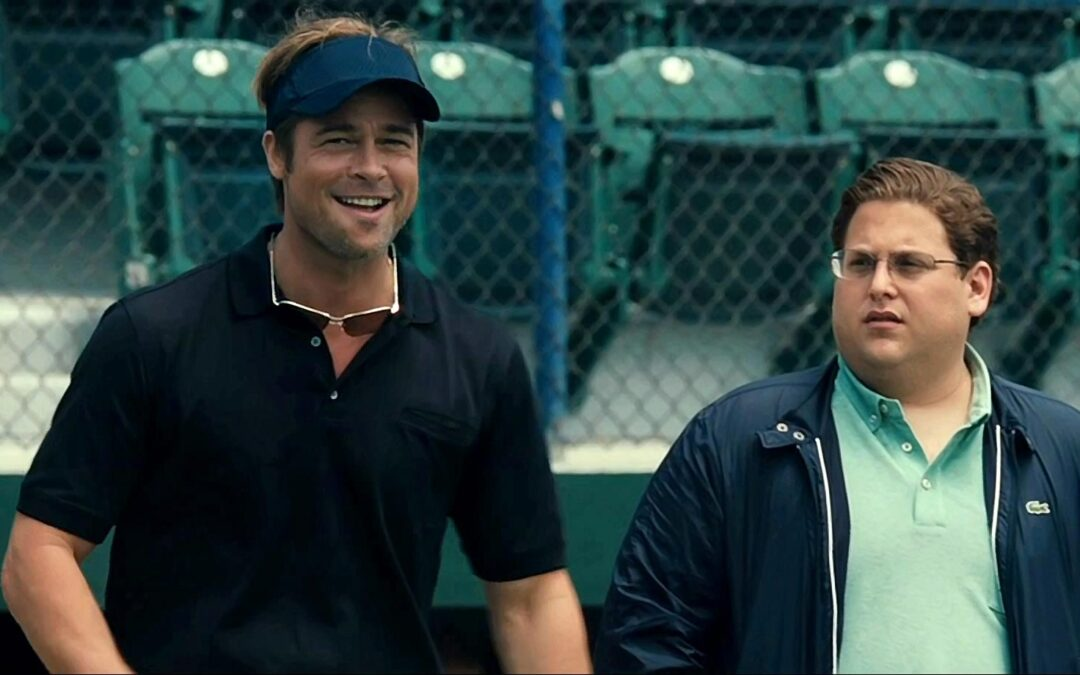 Brad Pitt and Jonah Hill from the movie Moneyball